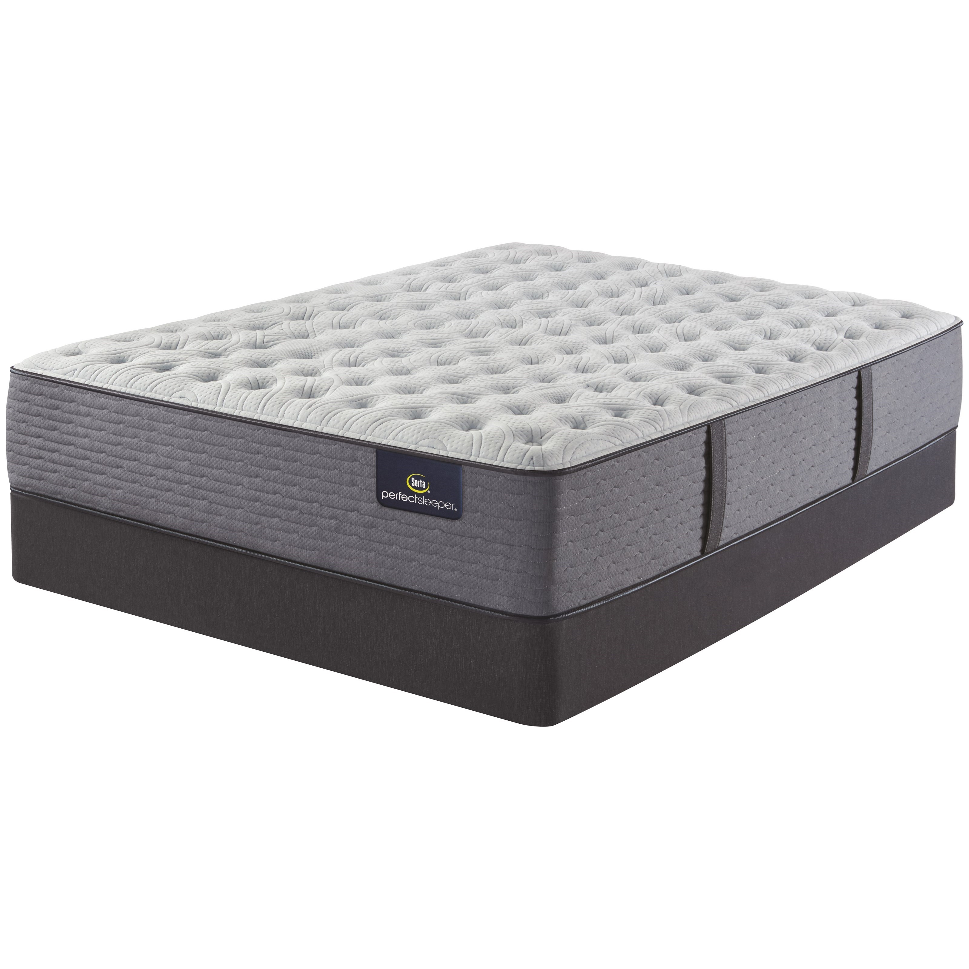 "Renewed Sleep Extra Firm Full 13 1/2"" Extra Firm Mattress Set by Serta at Darvin Furniture"