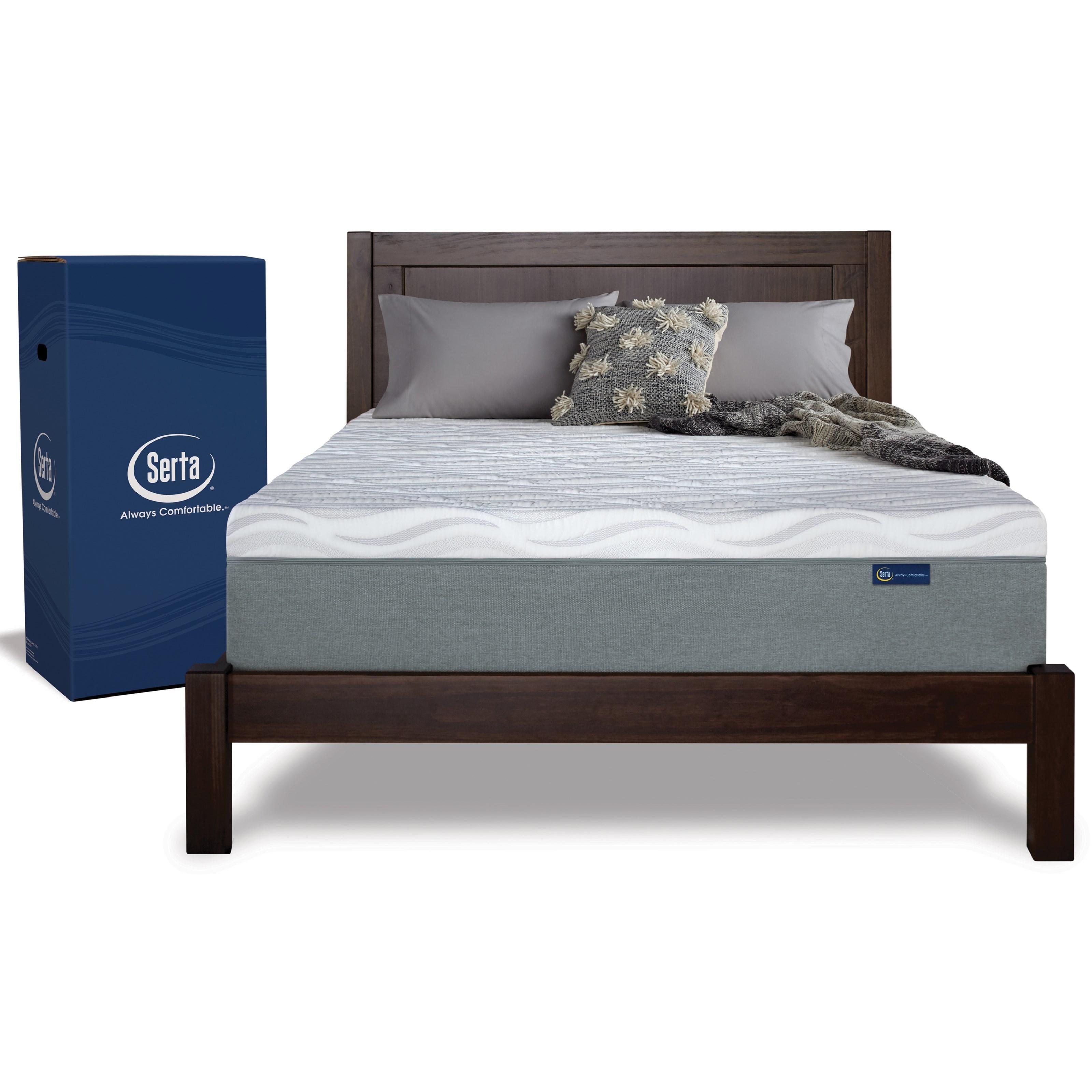Premium Serta Queen Firm Mattress in a Box by Serta at HomeWorld Furniture