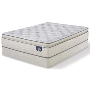 "California King Firm Super Pillow Top Mattress and 9"" StabL-Base® Foundation"