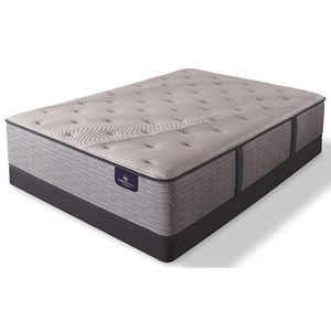"King Luxury Firm Pocketed Coil Mattress and 5"" Low Profile Foundation"