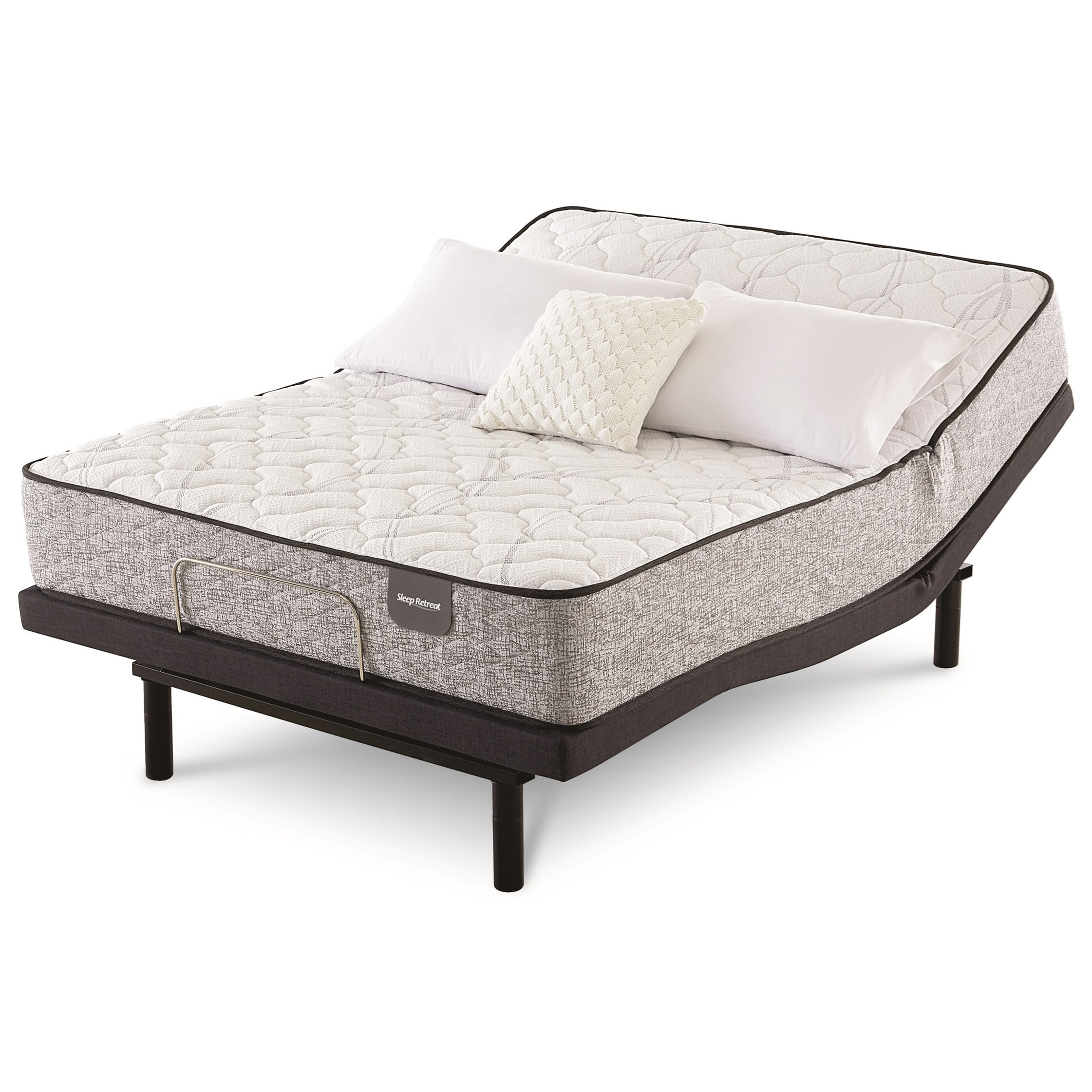 Sugar Beach Firm Queen Pocketed Coil Adj Mattress Set by Serta at Walker's Mattress