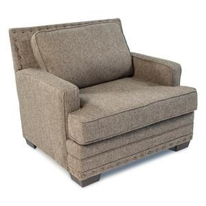 Upholstered Chair and a Half w/ Track Arms