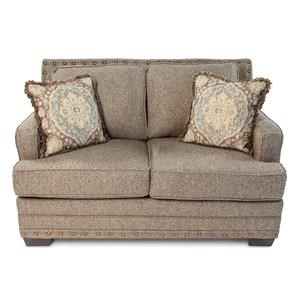 Loveseat w/ Track Arm & Nailhead Trim Detailing
