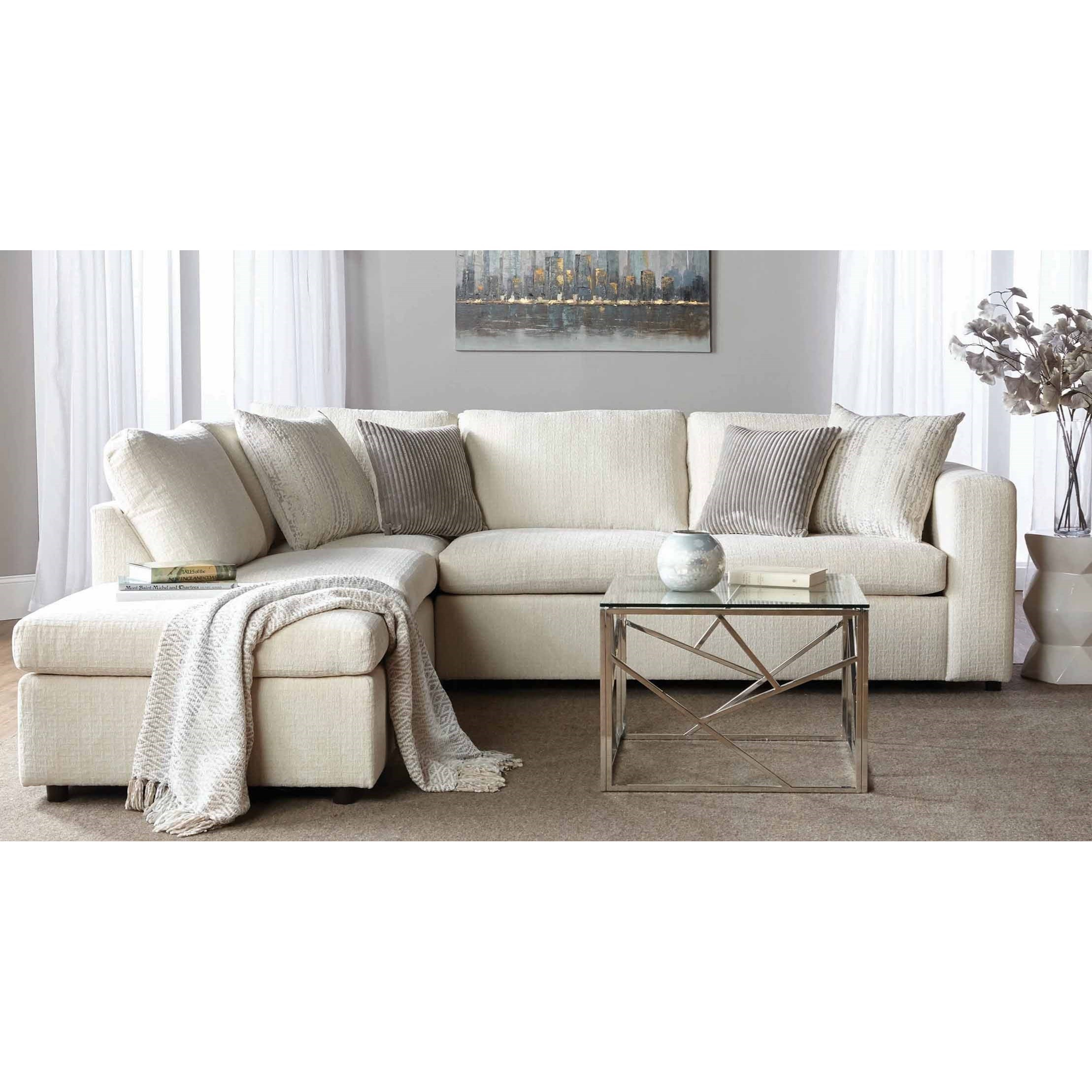 1100 Sectional Sofa with Chaise by Serta Upholstery by Hughes Furniture at Rooms for Less