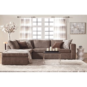Casual Contemporary Sectional Sofa with Chaise