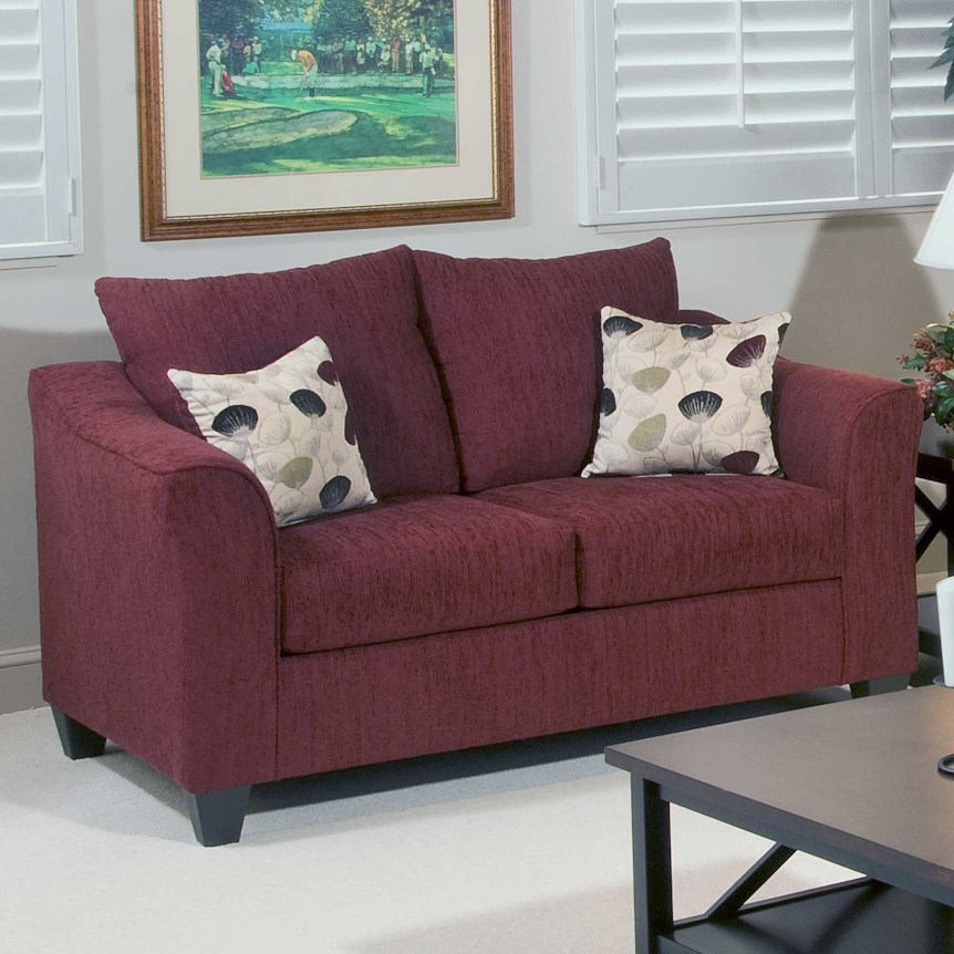 1225 Casual Upholstered Love Seat by Serta Upholstery by Hughes Furniture at Rooms for Less