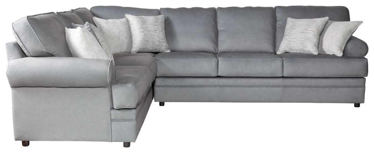 2PC Sectional Sofa w/ Rolled Arms