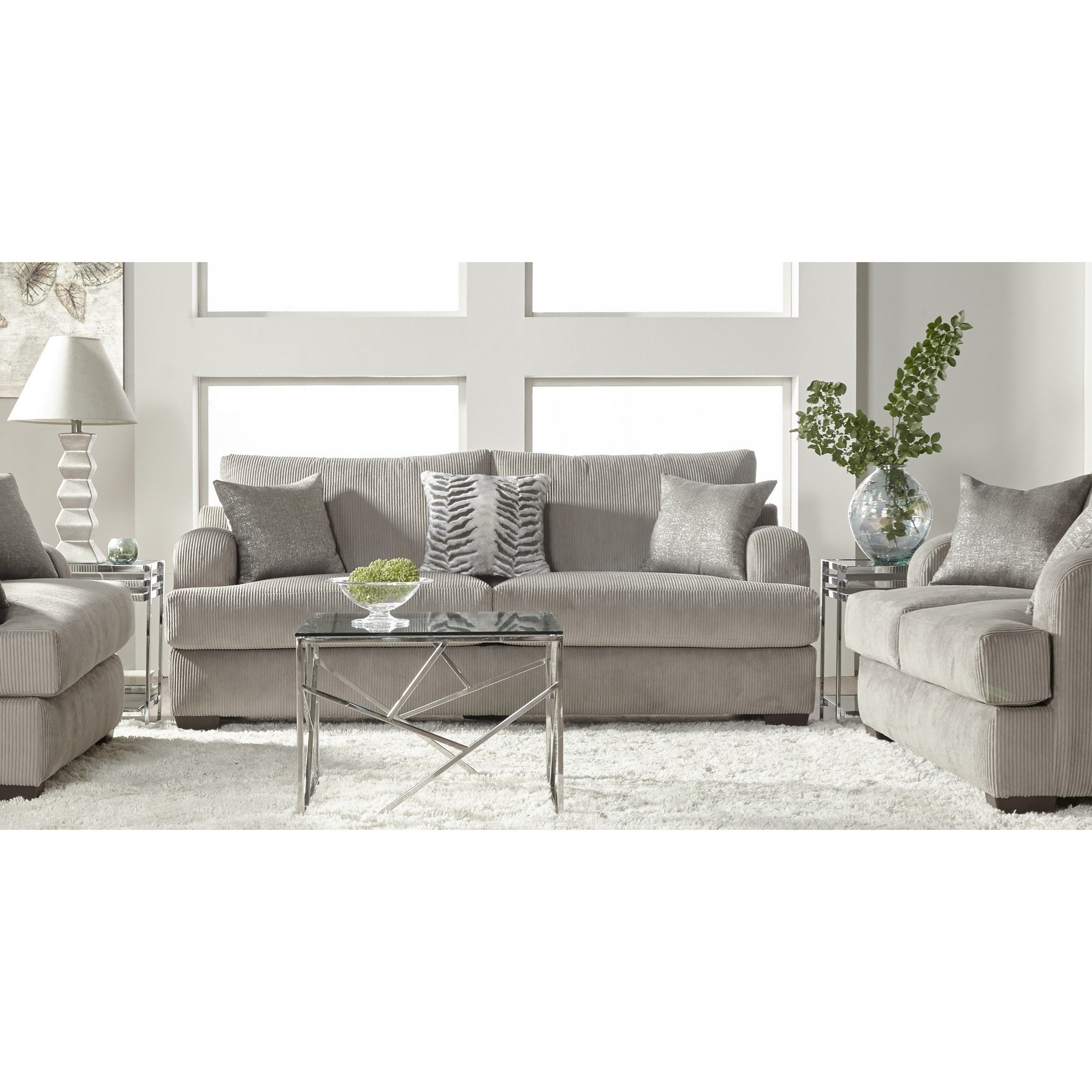 14100 Stationary Living Room Group by Serta Upholstery by Hughes Furniture at Rooms for Less
