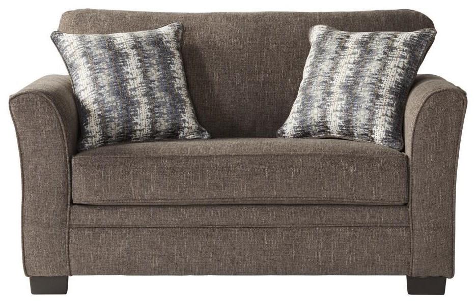1850 Sleepers Twin Umber Sleeper by Serta Upholstery by Hughes Furniture at Furniture Fair - North Carolina