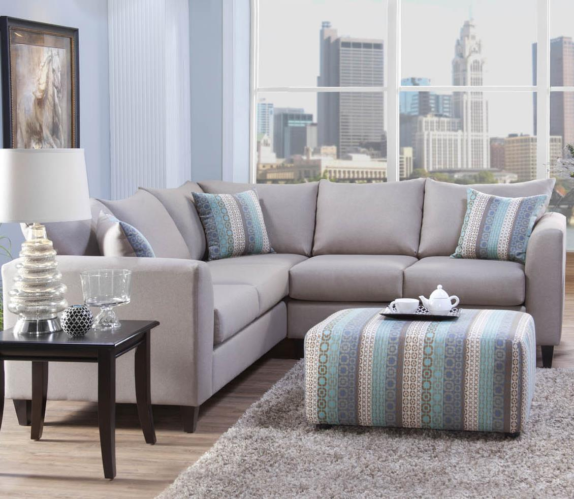 2100 Sectional by Serta Upholstery by Hughes Furniture at Rooms for Less