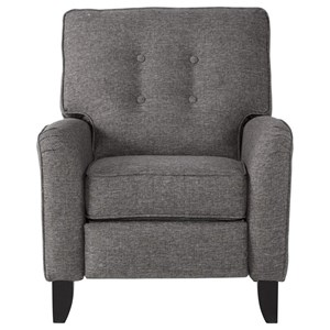 High Leg Reclining Chair with Button-Tufted Back