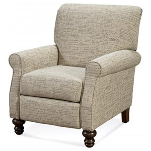 High Leg Recliner with Turned Feet