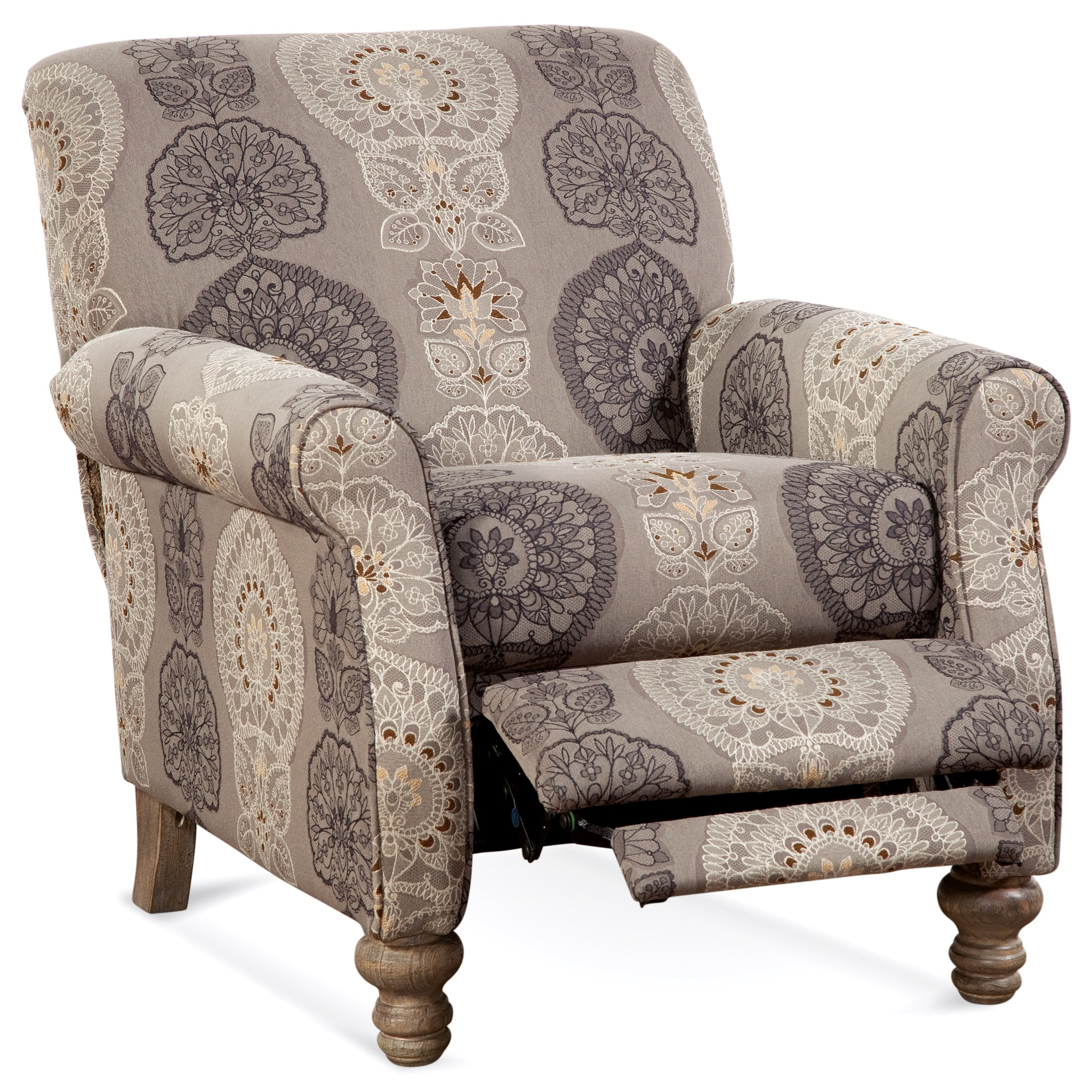 245 High Leg Recliner by Serta Upholstery by Hughes Furniture at Rooms for Less
