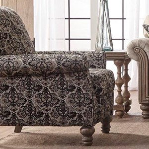 Traditional High Leg Recliner with Push Back Reclining