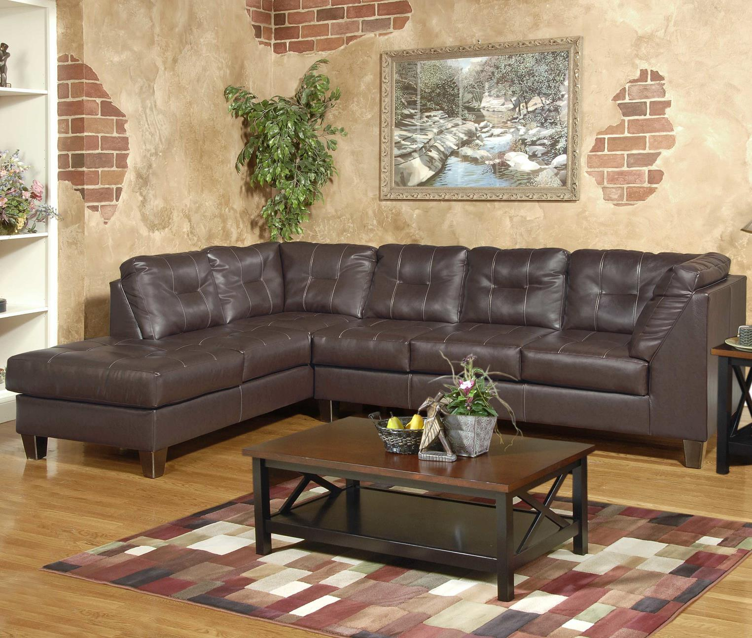 2500 Serta Sectional with LAF Chaise by Serta Upholstery by Hughes Furniture at Rooms for Less