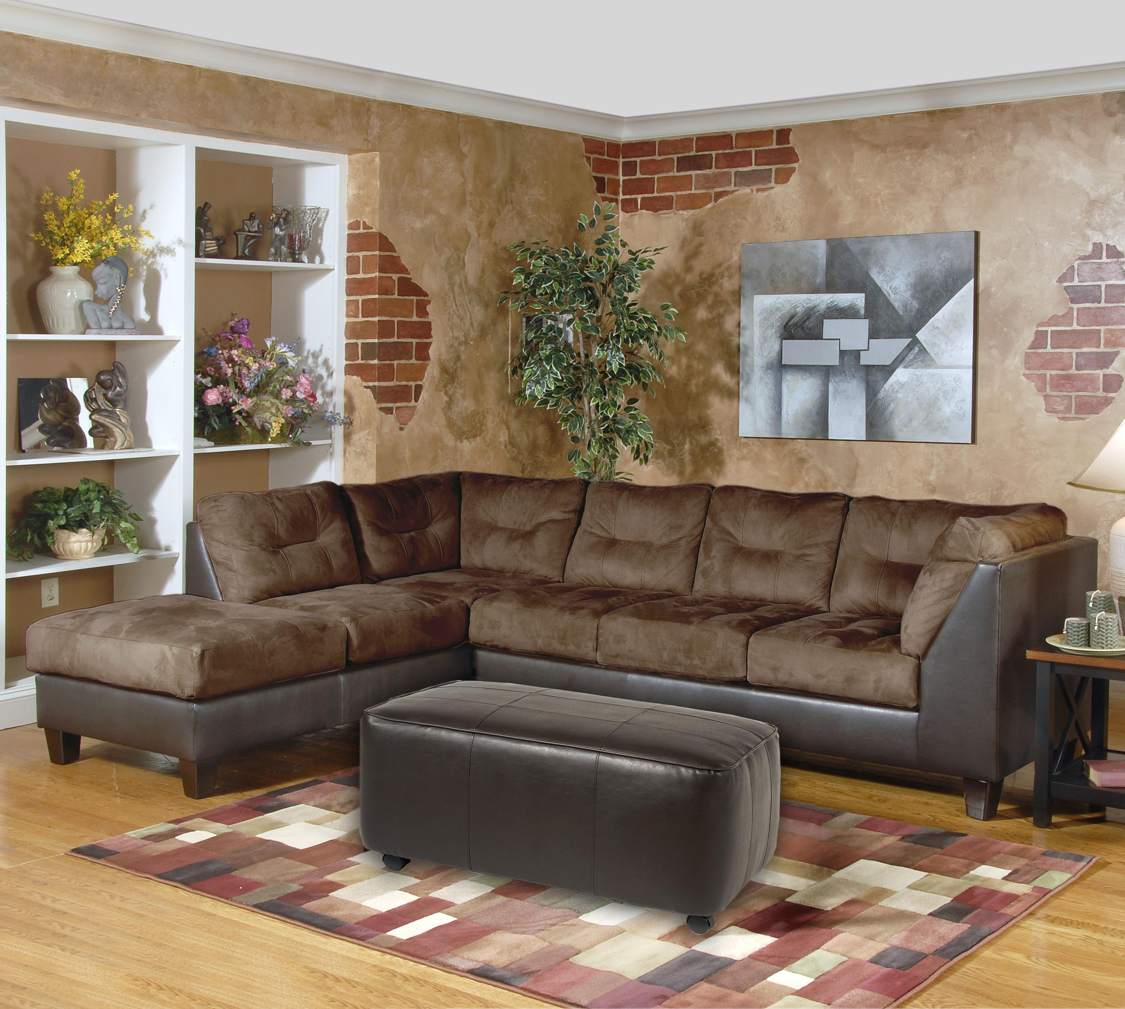 2550 Series Sectional Sofa by Serta Upholstery by Hughes Furniture at Rooms for Less