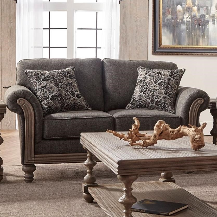 3400 Upholstered Loveseat by Serta Upholstery by Hughes Furniture at Rooms for Less