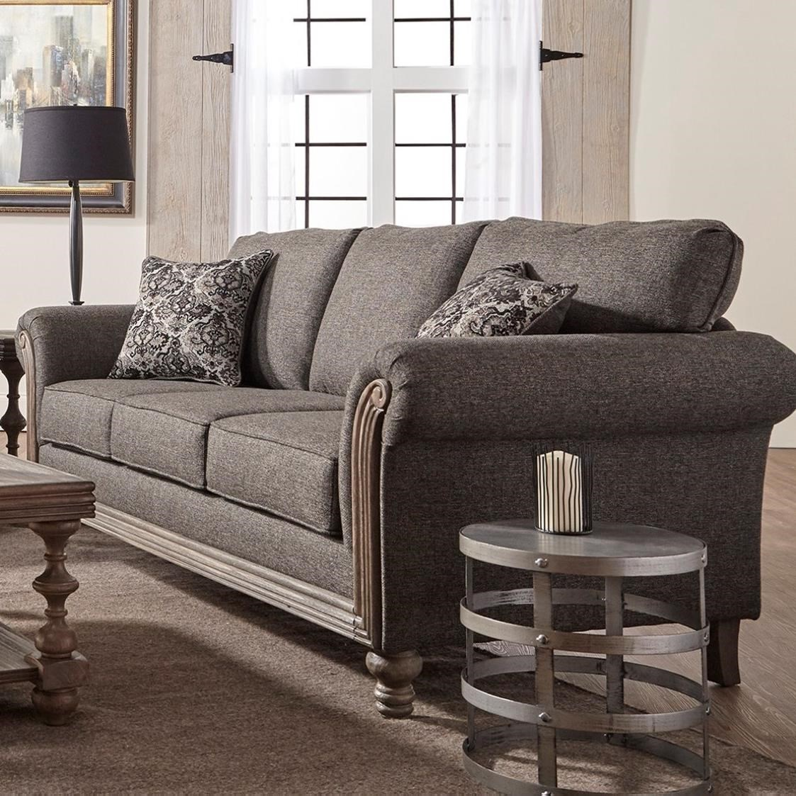 3400 Stationary Sofa by Serta Upholstery by Hughes Furniture at Rooms for Less