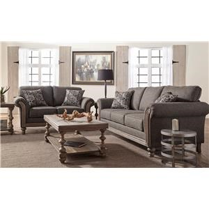 2PC Sofa & Loveseat Set
