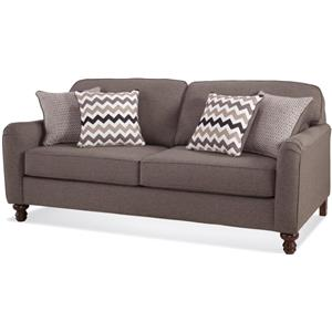 Transitional Sofa with Turned Feet