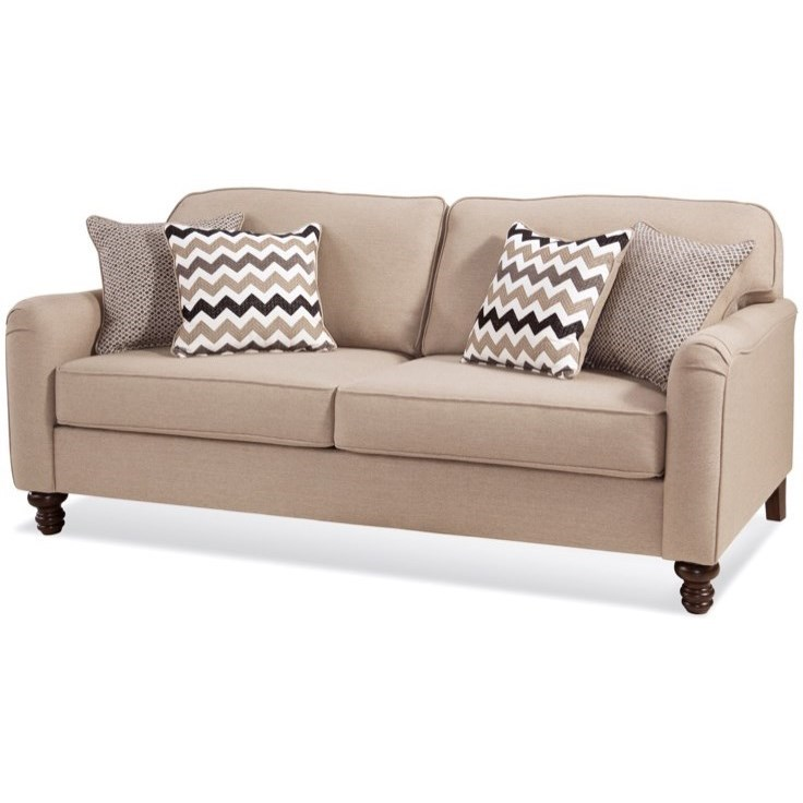 4050 Transitional Sofa by Serta Upholstery by Hughes Furniture at Rooms for Less