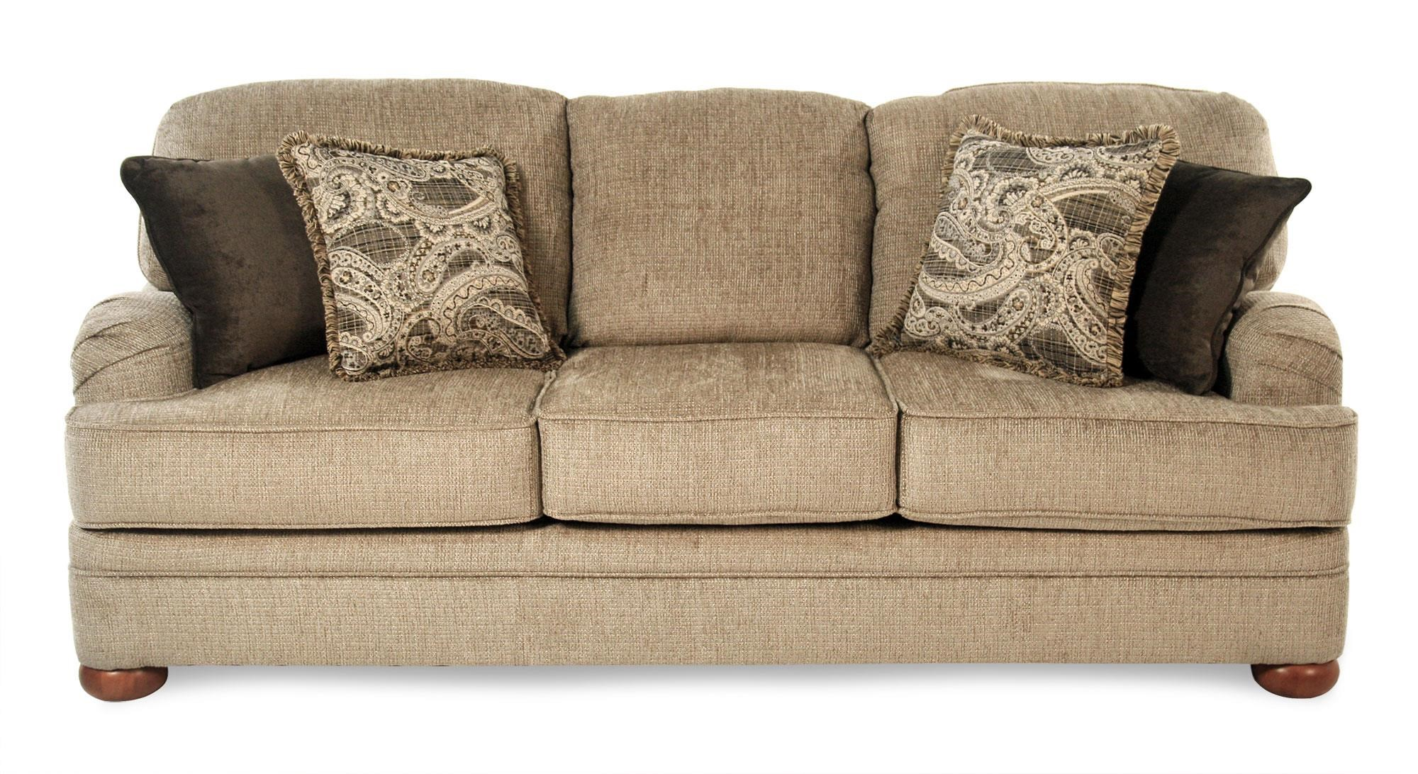 Transitional Sofa with English Arms