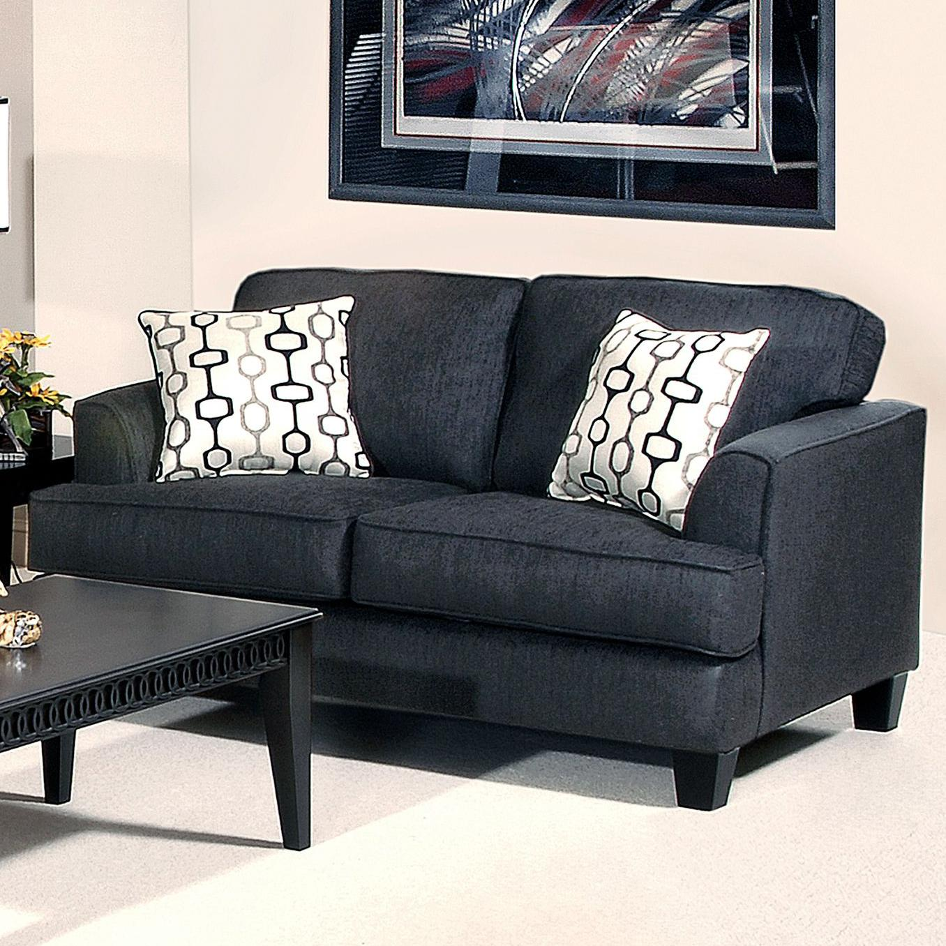 5600 Transitional Love Seat by Hughes Furniture at Lapeer Furniture & Mattress Center