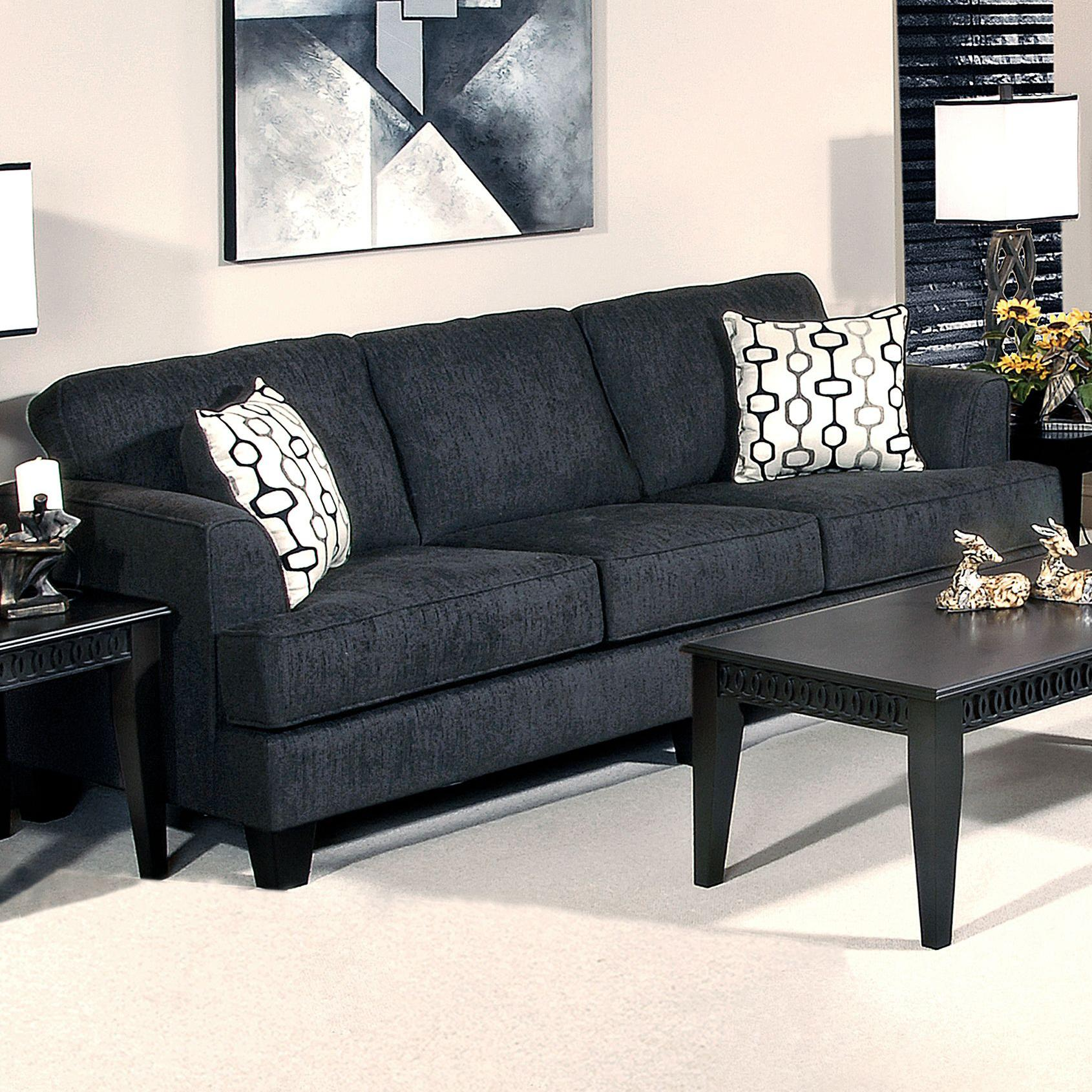 5600 Contemporary Sofa by Hughes Furniture at Lapeer Furniture & Mattress Center