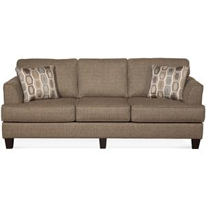Contemporary Sofa with Accent Pillows