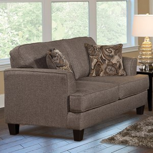 Contemporary Stationary Upholstered Loveseat