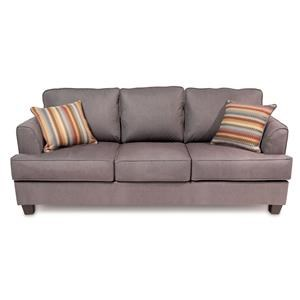 Transitional Queen 3-Seater Sofa Sleeper