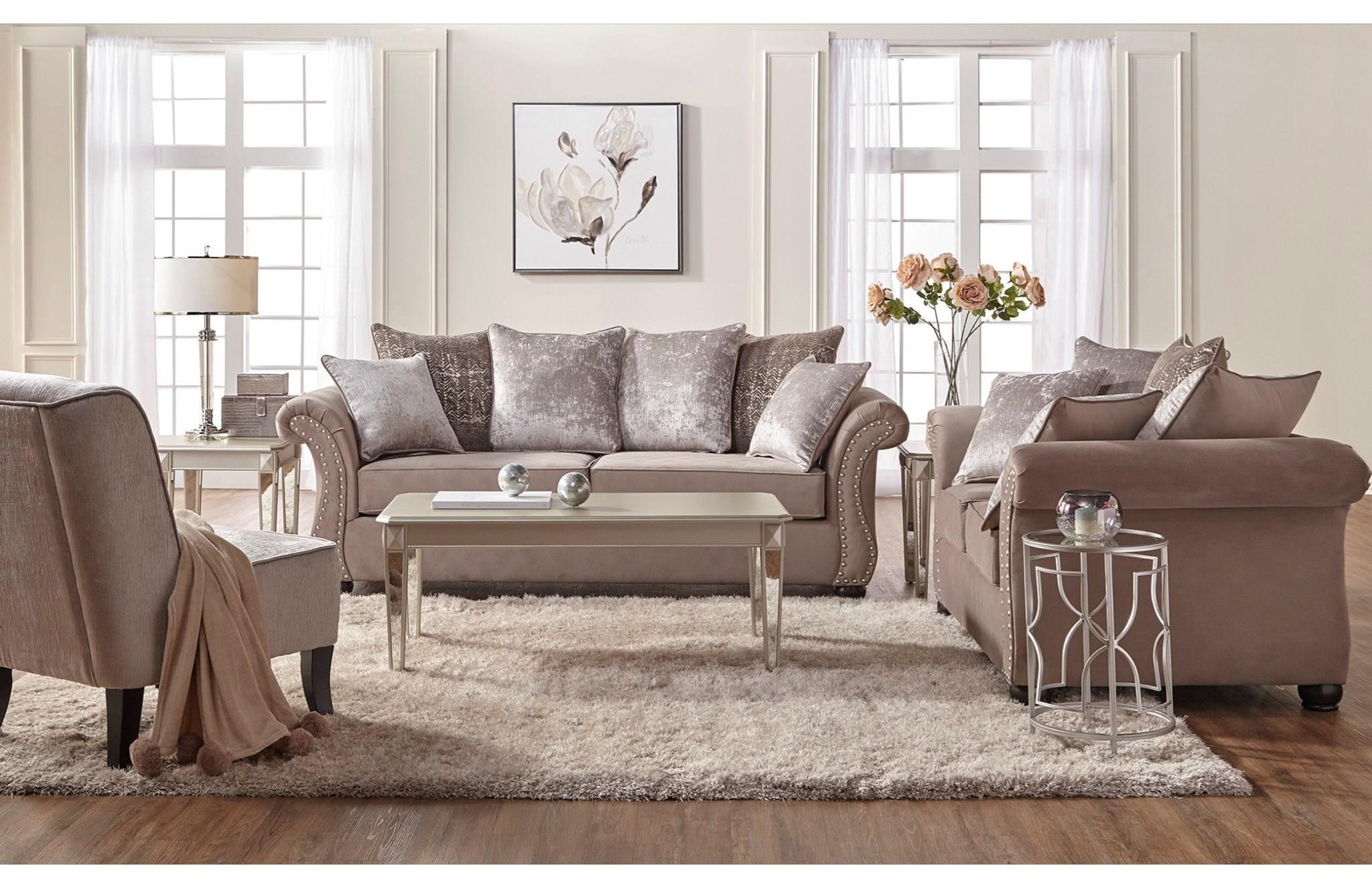7500 Stationary Living Room Group by Serta Upholstery by Hughes Furniture at Value City Furniture