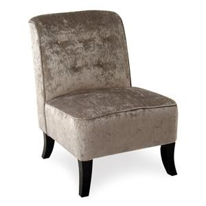 Upholstered Armless Accent Chair with Tufted Seatback