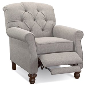 Traditional High Leg Recliner with Tufted Seat Back