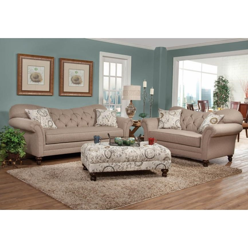 8750 Stationary Living Room Group by Serta Upholstery by Hughes Furniture at Darvin Furniture