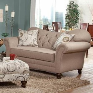 Loveseat with Diamond Tufting