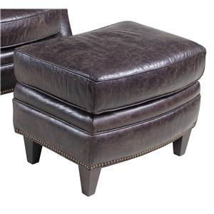 Hooker Furniture Club Chairs Traditional Leather Ottoman