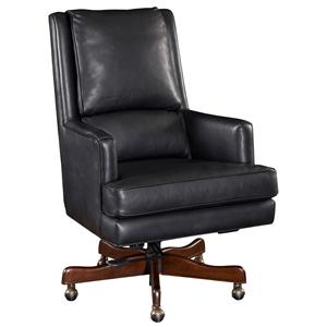 Upholstered Leather Desk Chair with Professional Style