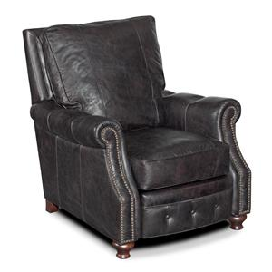 Traditional High Leg Reclining Chair with Tufted Recliner