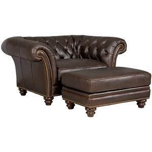 Hooker Furniture SS124 Chair & Ottoman