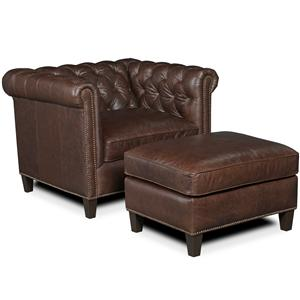 Hooker Furniture SS157 Traditional Chair And Ottoman