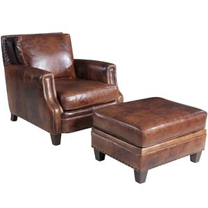 Hooker Furniture SS311 Traditional Chair And Ottoman