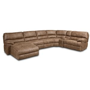 Hooker Furniture SS616 6 Piece Power Sectional W/ Right Chaise