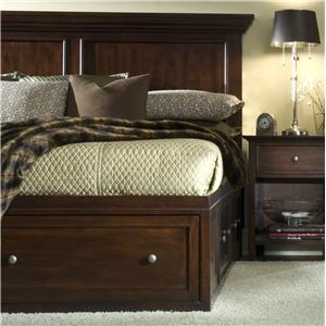 Transitional Queen Captain Storage Bed