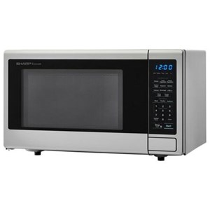 1.1 cu. ft. 1000W Stainless Steel Carousel Countertop Microwave Oven