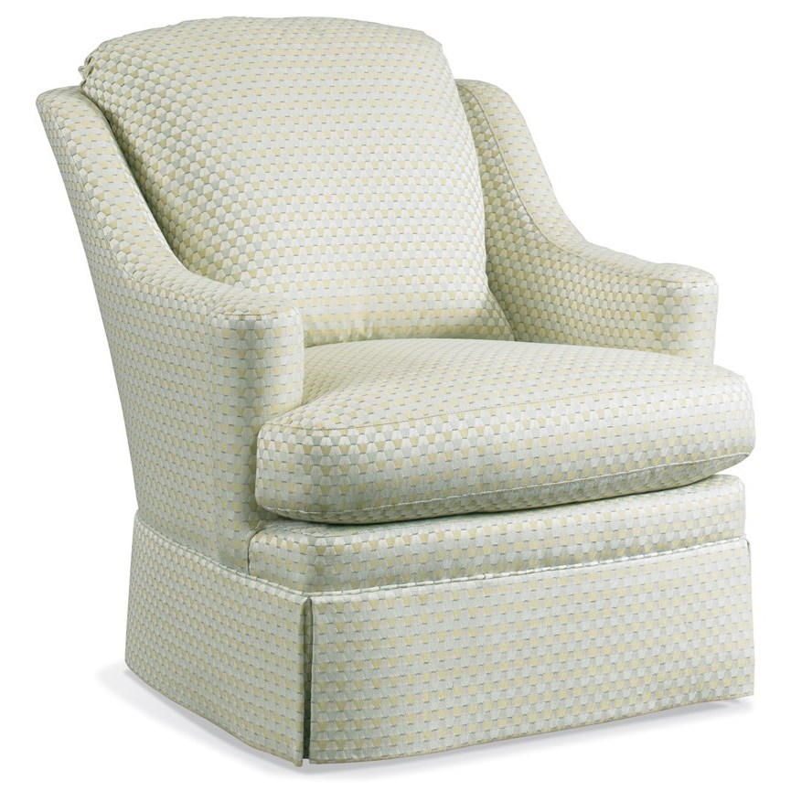 1728 Swivel Chair by Sherrill at Stuckey Furniture