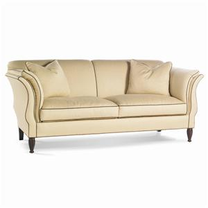 Flared Arm Sofa with Spiral Legs