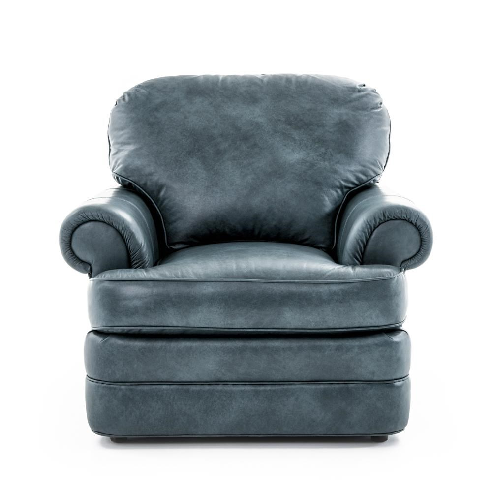 Customizable Chair with Rolled Arms and Upholstered Base