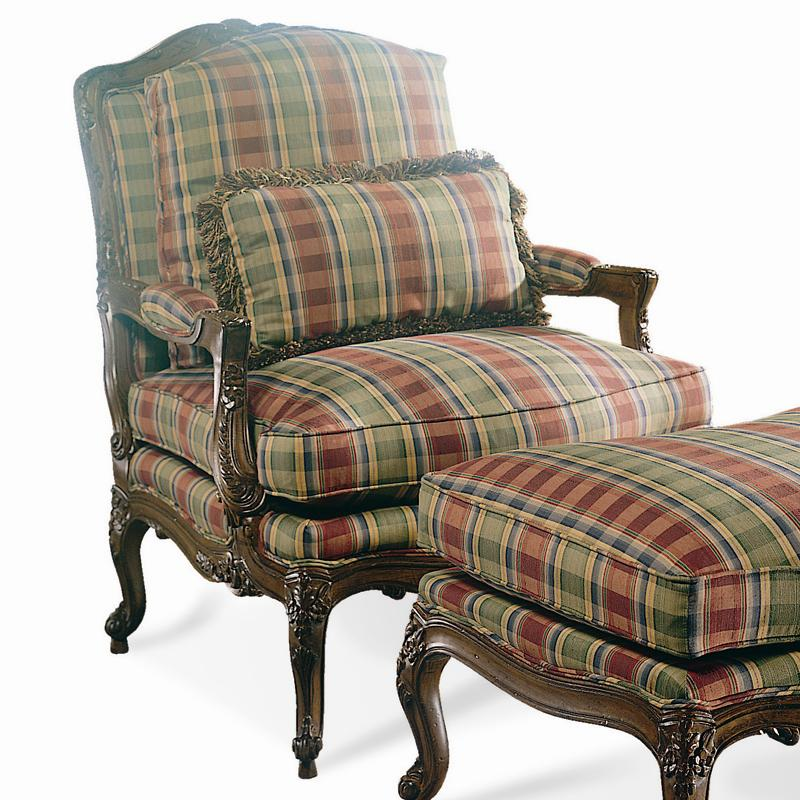 Traditional Carved Chair by Sherrill at Baer's Furniture