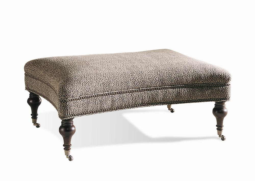 Traditional Upholstered Ottoman/Bench by Sherrill at Baer's Furniture